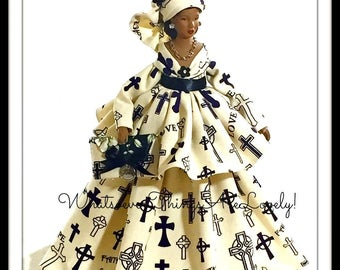 Black Dolls, Art Doll, Mother's Day Gift Doll, African American Virtuous Woman Doll, Inspirational Home Decor, OOAK Proverbs 31 Woman Doll