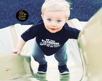 SALE Fresh Prince Playground Printed Black White  Shirt or Bodysuit Toddler & Baby Sizes