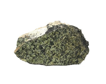 """Green Peridot Volcanic """"Bomb"""" mined at  Kilbourne Hole New Mexico Geology Specimen for a gem rock and mineral collection, August Birthstone"""