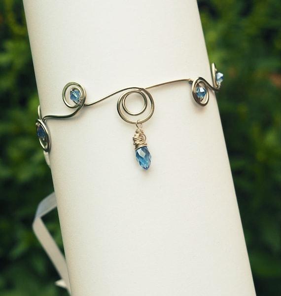 Light blue arm cuff