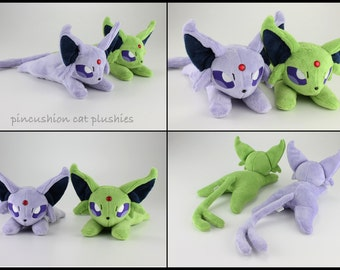 Espeon beanie style plush - made to order