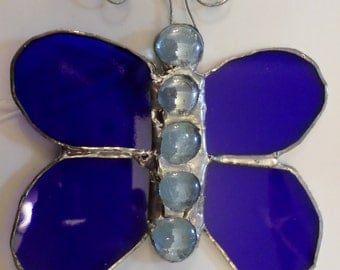Butterfly, sun catcher, stained glass, wall decoration, gift idea