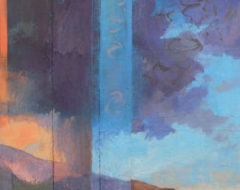 Step Out Into The Day ~ Original Contemporary Abstract Western Landscape Painting