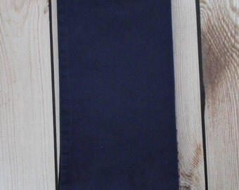 NAVY cloth napkin, blue fabric dinner napkin, reusable, assorted sizes & colors available, made to order