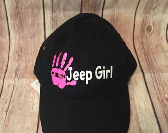 jeep girl, jeep life, country girl, jeep hair, personalized baseball hat, design your own hat, baseball hat, jeep hat