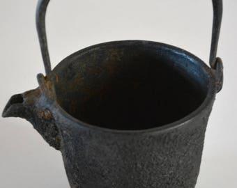 Antique Japanese Nambu tetsubin, iron kettle without lid