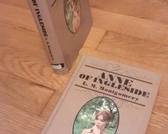 """Anne of Green Gables books: """"Anne of the Island"""" and """"Anne of Ingleside"""" pictorial hardcover, dust jacket by L.M. Montgomery"""