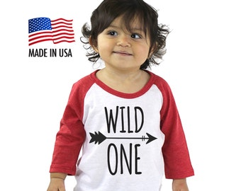 Wild One Tri-blend Raglan Baseball Shirt - Infant, Toddler, Kid, Youth sizes