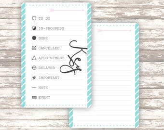 Daily planner DASHBOARD• KEY • Personal size • A5 • DIGITAL printable
