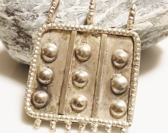 Large Ethiopian Pendant, African Jewelry Supplies, Ethnic Pendant (AC54)
