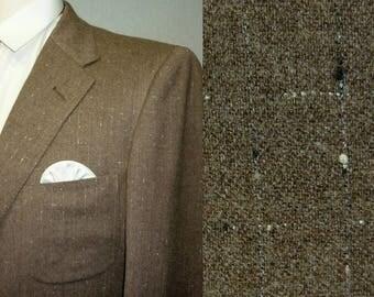 1950s Sport Coat / 37 - 38 / S - M / Flecked / Atomic / Rockabilly / Vintage 1950s Mens Fashion / 1950s Jacket / Elvis / Stage / RnR / VLV