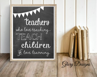 Teacher Appreciation gift, Teacher quote, Teacher printable, The influence of a teacher, Printable, Classroom printable, inspirational quote