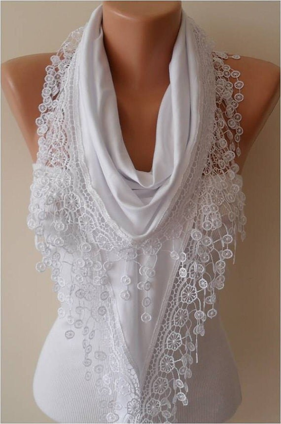 gift for white scarf scarves shawl lace scarf fashion