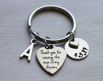Thank-You For Raising The Man Of My Dreams Keychain, Mother-In-Law Gifts, Gifts for Mother-In-Law, Wedding Gifts, Gifts Wedding Ideas, Mom