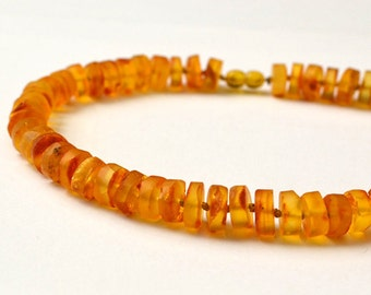 Natural Amber Necklace, Natural Necklace Butterscotch Amber, Untreated Amber Jewelry