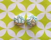 Fabric Covered Button Earrings / Wholesale Jewelry / Pastel / Handmade in NYC / Bulk Earrings / Sensitive Ears / Liberty of London