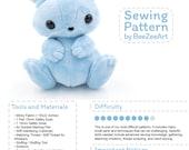 Bunny Stuffed Animal Sewing Pattern, Plush Toy Pattern, Rabbit Plushie Pattern, PDF, Digital Download