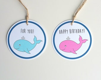 Set 10 Birthday Gift Tag Nautical Shower Favor Tag Custom Gift Tag Baby Shower Favor Baby Girl Tag Baby Boy Tag Thank You Tag Personalized