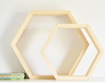 The Hexagon Shelf | Bare Finish