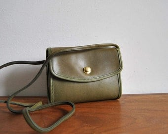 Coach Olive Green Chrystie Crossbody Shoulder Bag 9892 USA