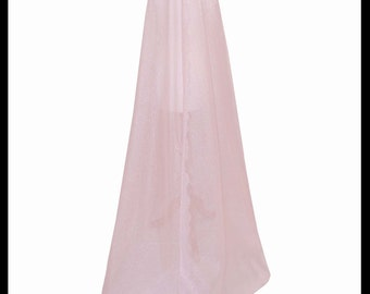 Beautiful Pastel Pink Shimmer Organza Cloak. Ideal for a Summer Wedding, Handfasting or Medieval Event. Brand New. Made Especially For You.