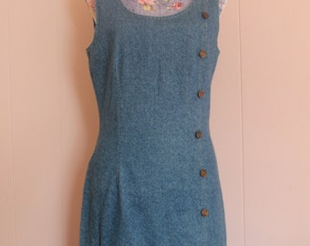Vintage 80's Women's Denim Dress