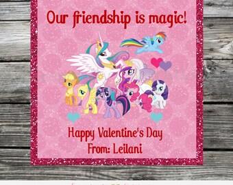Printable Valentine Cards, Little Pony Valentine's Day Card, Classroom Cards, Valentine's Day,  Kids Valentine Cards, DIY Valentine Cards