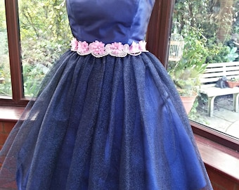 Fantasy fairy style dress  layered soft sparkling net over satin fairy dress Bridesmaid prom party uk size 10/12 USA size 4/6