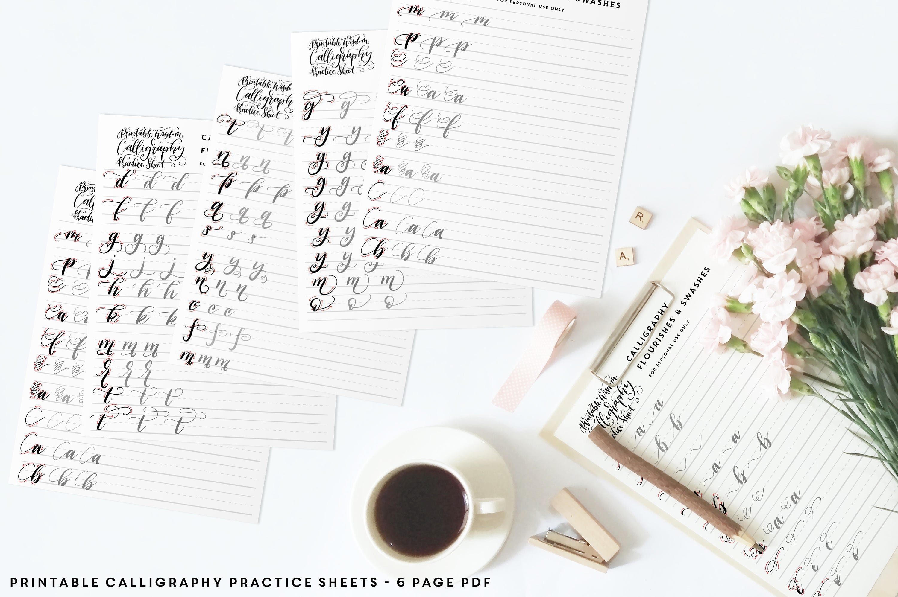 Free Printable Word Family Worksheets Calligraphy Flourish Practice Sheets Learn Calligraphy Pdf  3rd Grade Fractions Worksheet Pdf with Free Printable Worksheets For Grade 5 This Is A Digital File Spelling Worksheets Grade 8 Word