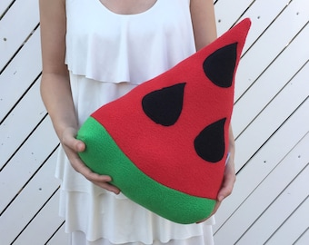 Watermelon Decorative Pillow, Cool Watermelon Decor, Fruit Pillow Decor, Fruit Red Cushion, Watermelon design, Fruit Watermelon Throw Pillow