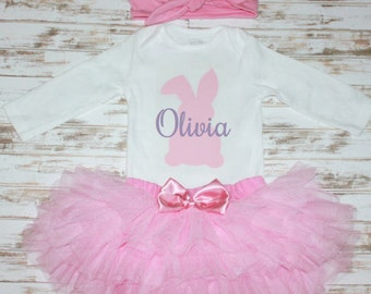 Easter Bunny Personalized Onesie-Easter Photo Prop-Eater Outfit