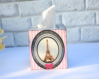 2 Eiffel Tower Paper Napkins for Decoupage, Mixed Media, Collage, Scrapbooking, Pink Paris  Decoupage Paper Napkins