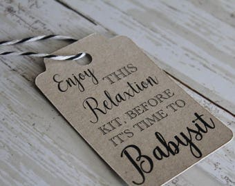 Bachelorette Party Favor Tags, Relaxation Kit, MEDIUM, Favor Tag, Wedding Favor Tag, Wedding Tags, Bridal Shower Tags
