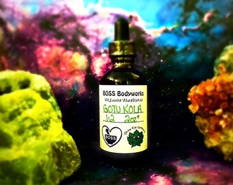 Organic GOTU KOLA Tincture - 1oz, 2oz, 4oz - Centella asiatica Herbal Extract, gluten free, fair trade, kosher, non-GMO
