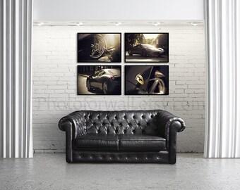 Set of 4 prints/Ferrari car photography/large wall art /gallery wall set/nursery art/car decor/boys room decor/car print/Ferrari poster