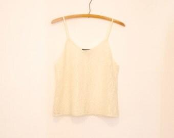 Cream Lace Camisole - 1980s