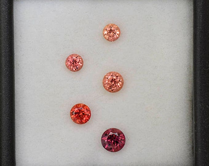 UPRISING SALE! Nice Pink and Orange Sapphire Gemstone Set from Tanzania 1.20 tcw.