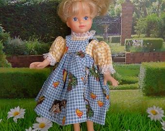THREE PIECE DRESS for all 8 inch/20cm dolls like Ginger, Ginny, Kripplebush Kids, Middle Blythe