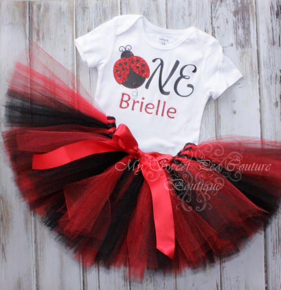 Ladybug First Birthday Tutu Outfit Cake Smash Outfit 1st