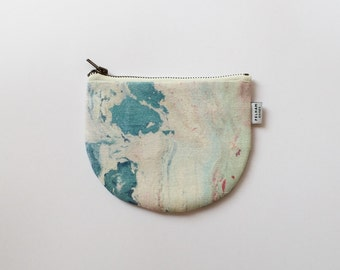 Marbled Mini Pouch - Marbled Coin Purse - Paradise Marble Print