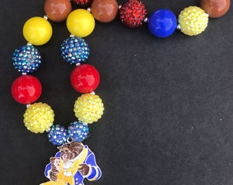 Beauty and the Beast Chunky Necklace