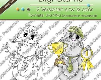 Digi stamp set - Guinea pig with Cup / E0156