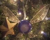 Discounted) Dark Blue and Purple Navi, Zelda style Fairy- Medium Ornament (led light)