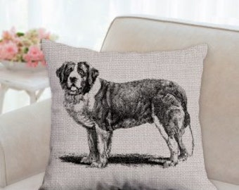 St. Bernard Dog Decorative Pillow