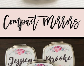 Bridesmaid Mirror Compacts Personalized Bridesmaid Gifts Unique Bridesmaid Compact Mirror Personalized Gifts for Women