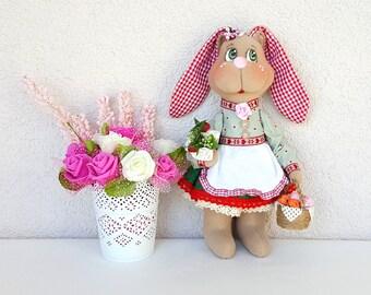 Tilda textile Bunny Easter gift Easter decorations Easter toy Tilda Bunny Textile toy Hare fabric Bunny Toy Easter bunny decor Tilda bunny 5