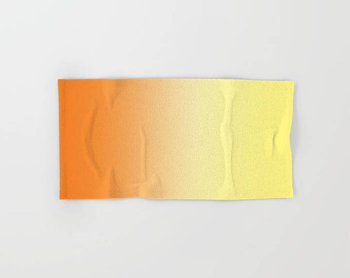 Orange Hand Towels - Orange to Yellow Ombre - Microfiber - Cotton Terry Cloth - Made to Order