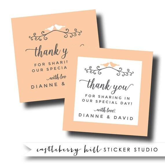 Bird Wedding Sticker, Lovebird Stickers, Bird Wedding