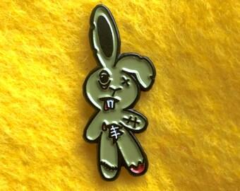 """Zombunny Zombie Bunny Soft Enamel Pin 1"""""""
