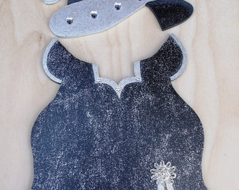 "New Year's Evening Gown Outfit  - Wooden ""Seasonal Bear n Friends"" Outfit"